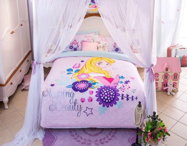 Sleeping Beauty Princess Aurora Bedding Set 9 600x469 - Disney Castle Sleeping Beauty Princess Aurora Bedding Set