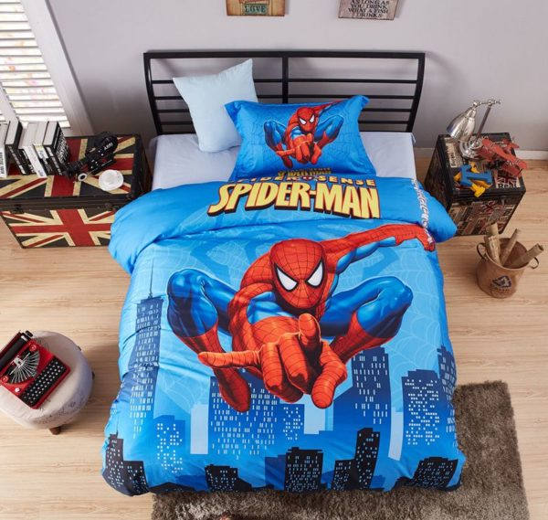 Spider Sense Spider Man Bedding Set MAV 0223 2 600x569 - Spider Sense Spider-Man Bedding Set Mav-0223