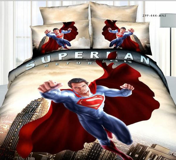 Super Man Movie Themed Bedding Set