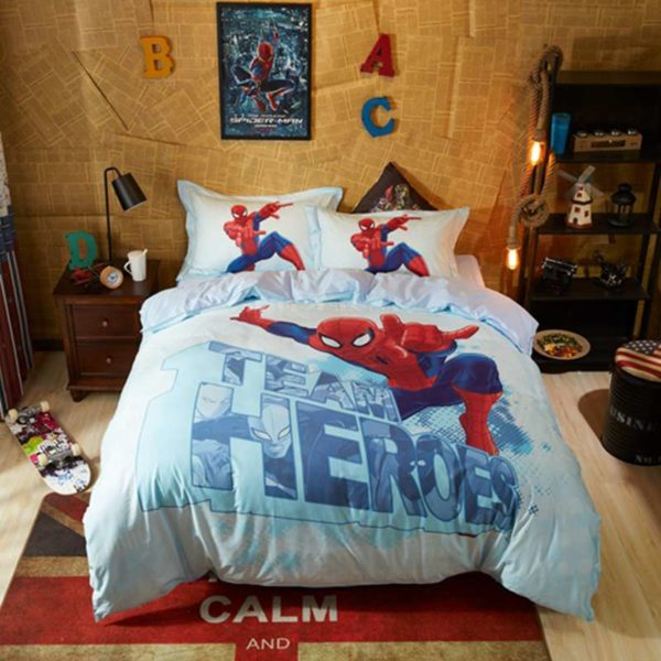 Team Heroes Spider Man Kids Bedding Set