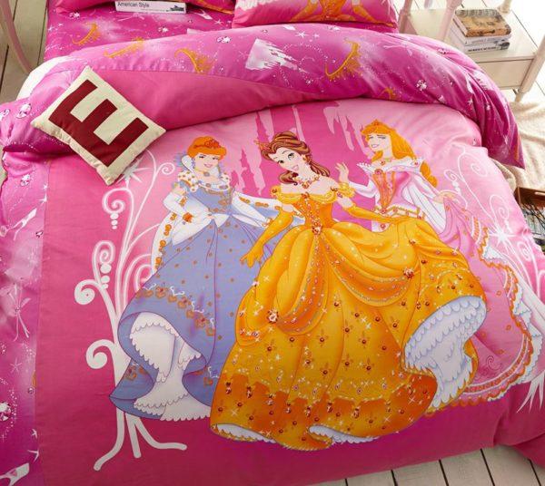 Teen Girls Disney Princess Bedding Set 2 600x536 - Teen Girls Disney Princess Bedding Set
