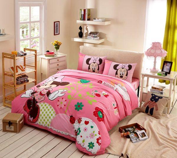 Teen Girls Pink Minnie Mouse Bedding Set