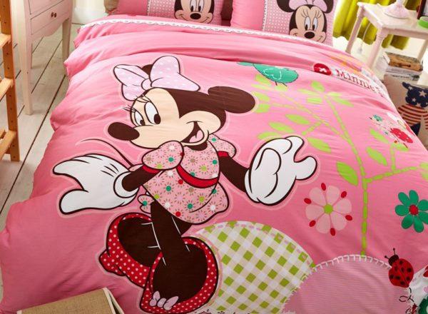 Teen Girls Pink Minnie Mouse Bedding Set 2 600x440 - Teen Girls Pink Minnie Mouse Bedding Set