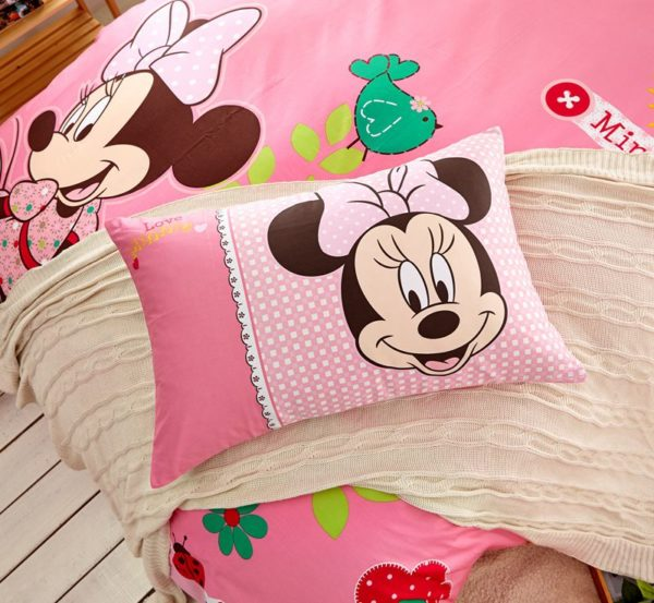Teen Girls Pink Minnie Mouse Bedding Set 4 600x553 - Teen Girls Pink Minnie Mouse Bedding Set