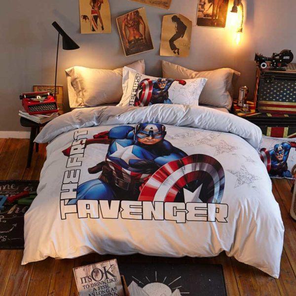 The First Avenger Captain America Bedding Set 4