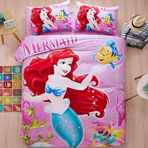 The Little Mermaid Movie Themed Bedding Set Curtain Rugs and Home Decor