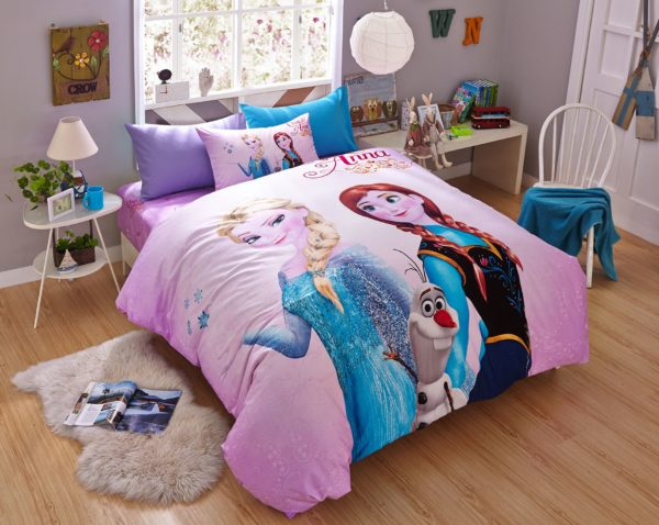 Thistle color frozen themed bedding set 1 600x478 - Thistle Color Frozen Themed Bedding Set