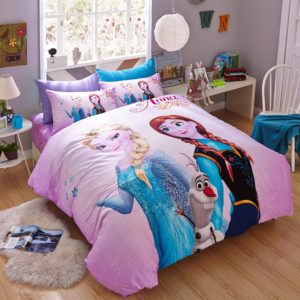 Thistle Color Frozen Themed Bedding Set