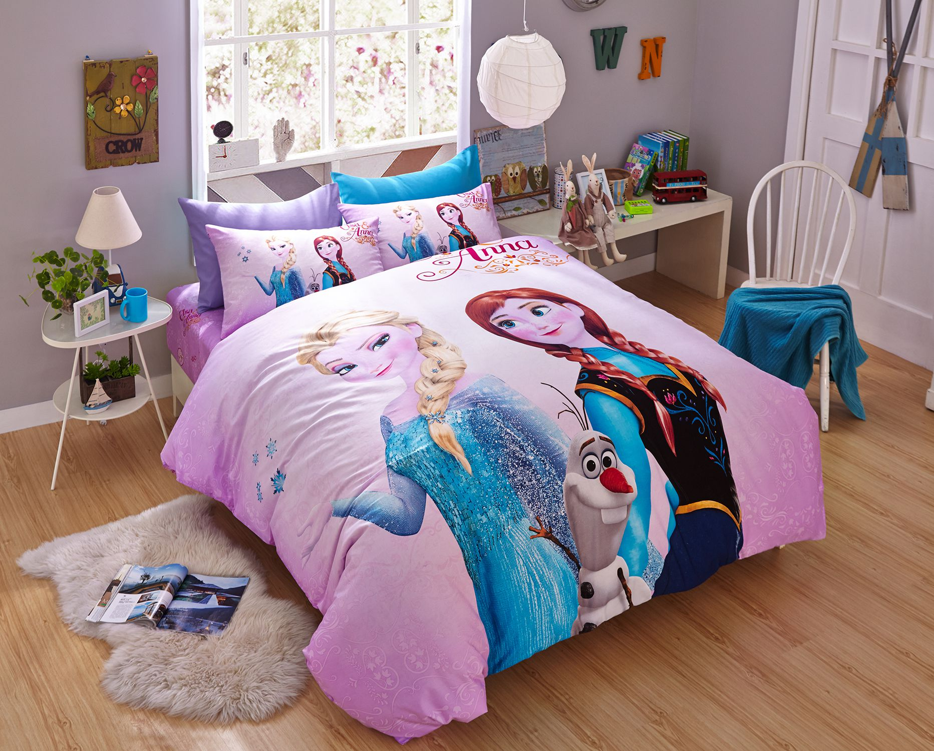 Thistle Color Frozen Themed Bedding Set Ebeddingsets