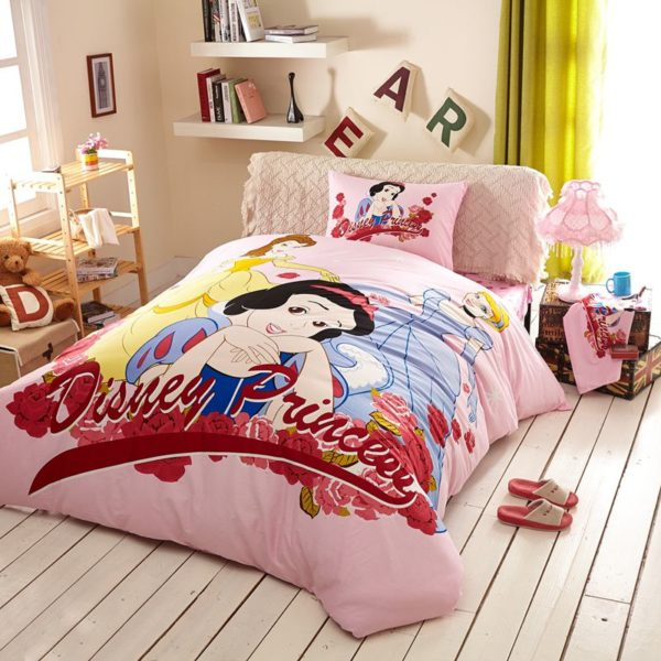Twin Queen Size Disney Princess Bedding Set