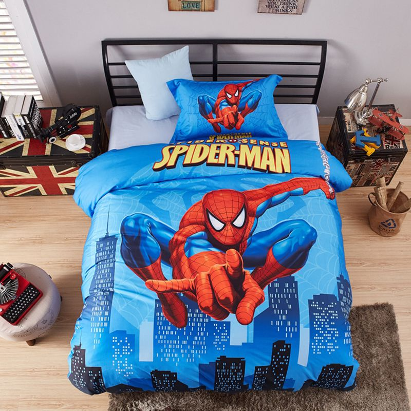 Visually Appearing Spider Man Super Hero Bedding Set 8 600x600   Visually  Appearing Spider Man Super