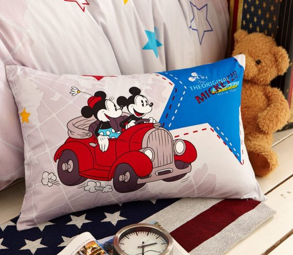 White Color Mickey Minnie Teens Bedroom Bedding Set 5 600x521 - White Color Mickey Minnie Teens Bedroom Bedding Set