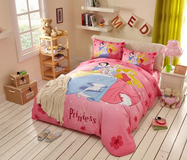 Disney Princess Bed Sheets Set Twin Queen Size