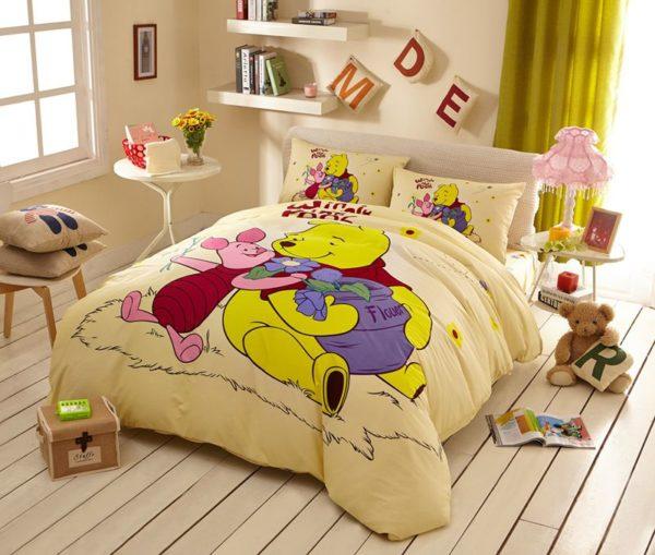 Disney Winnie the Pooh and Piglet Bedding Birthday Gift