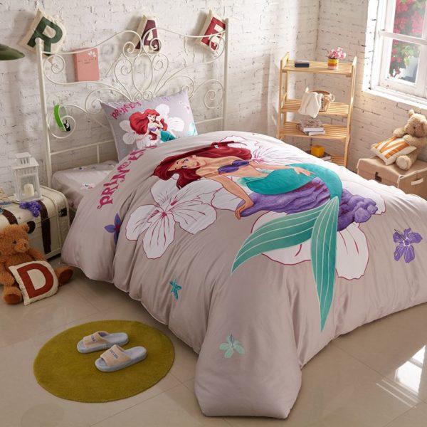 princess mermaid Comforter Set 1 600x600 - Princess Mermaid Comforter Set