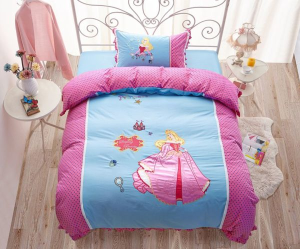 sleeping beauty princess aurora Bedding set 1 600x498 - Sleeping Beauty Princess Aurora Embroidery Bedding Set