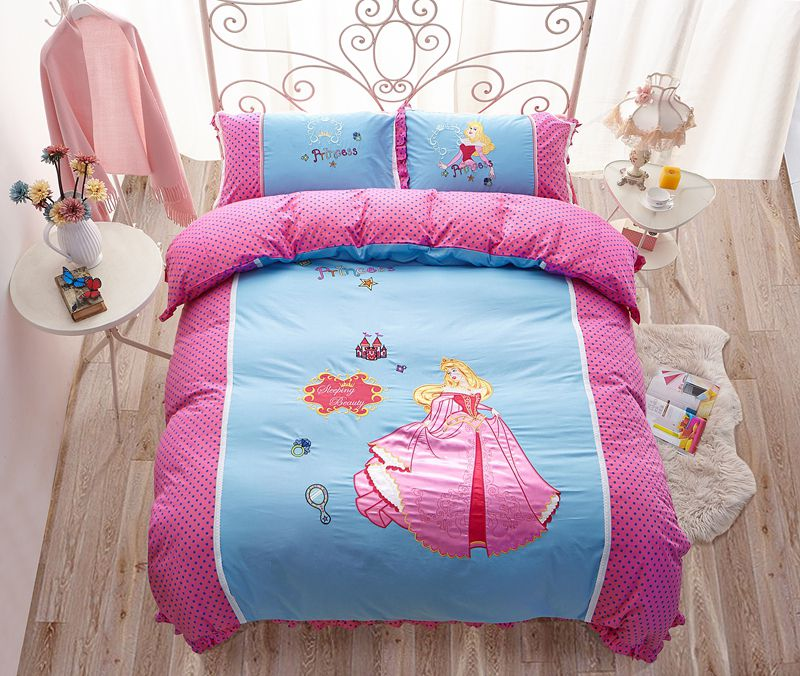 Sleeping Beauty Princess Aurora Embroidery Bedding Set