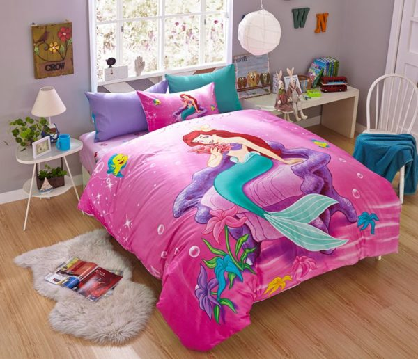 the little mermaid movie Princess Ariel Bedding set 1
