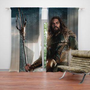 Aquaman Justice League Super Hero Curtain