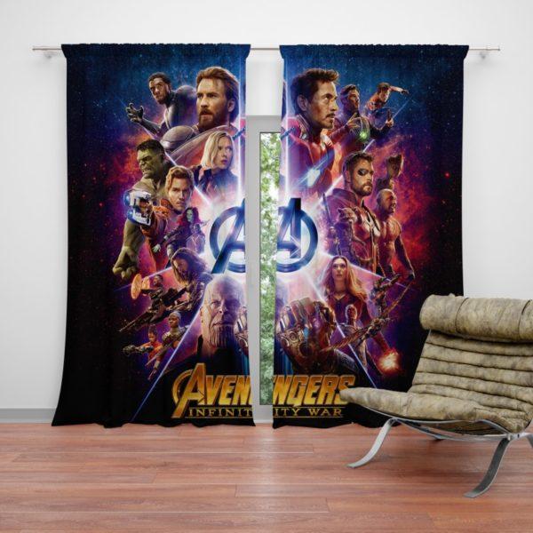 Avengers Infinity War Marvel Comic Movie Curtain