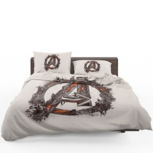 Avengers Logo Print Bedding Set
