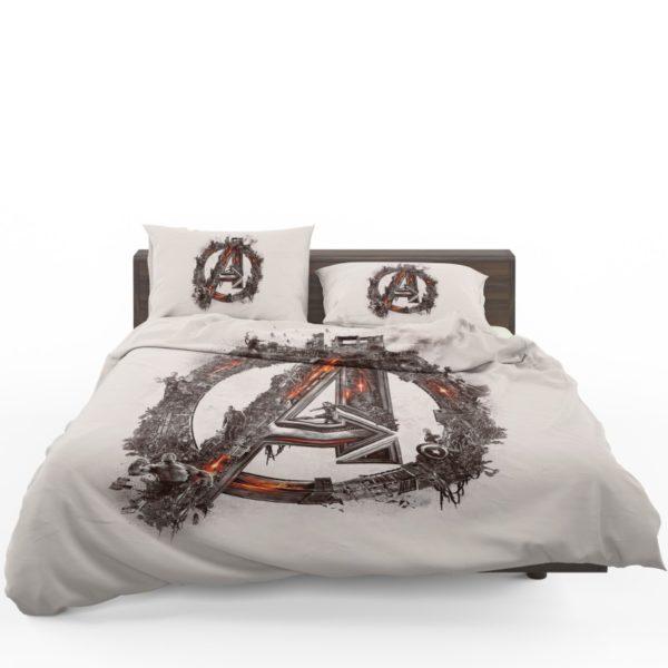 Avengers Logo Print Bedding Set