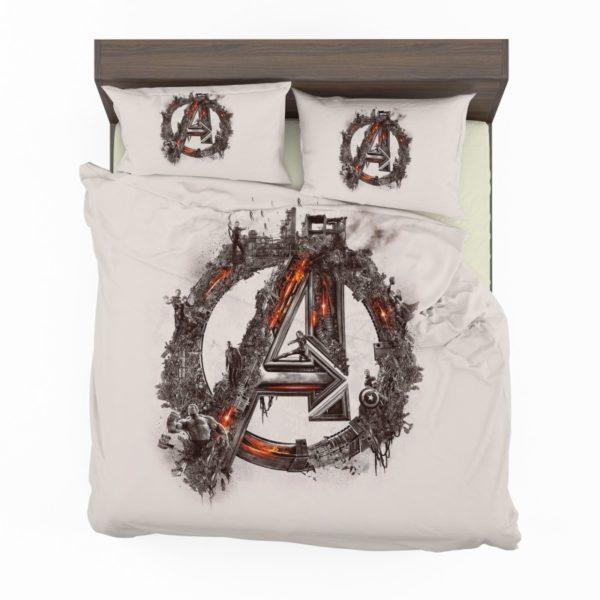 Avengers Logo Print Bedding Set2