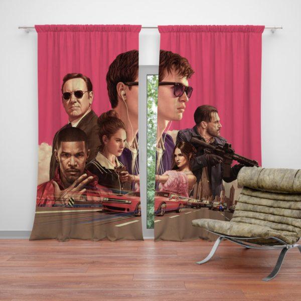 Baby Driver Movie Kids Curtain