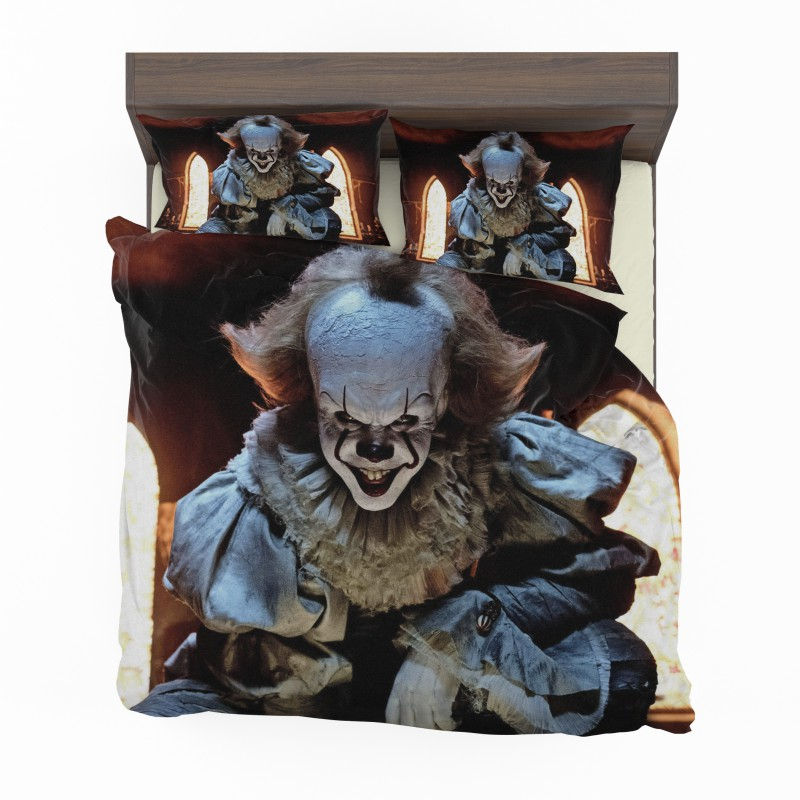 Bill Skarsgard Pennywise Clown It Bedding Set Ebeddingsets