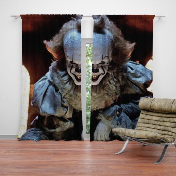 Bill Skarsgard Pennywise Clown It Curtain