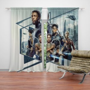 Black Panther Bedroom Curtain