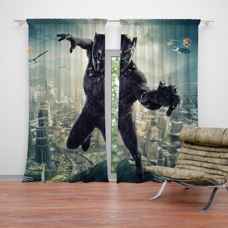Amazing Black Panther Kids Teen Curtain Bralicious Painted Fabric Chair Ideas Braliciousco