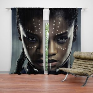 Black Panther Letitia Wright Shuri Curtain