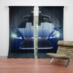 Black Panther Lexus LC Curtain