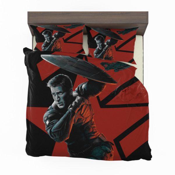 Captain America Chris Evans Marvel Comics Bedding Set2