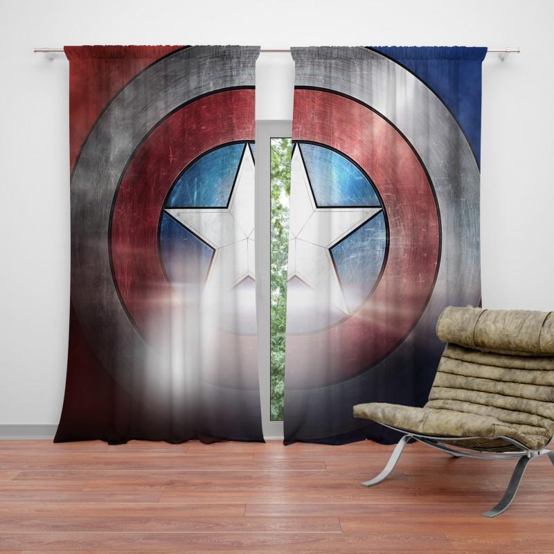Captain America Shield American Marvel Curtain Ebeddingsets