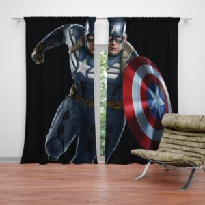Captain America Superheroes Marvel Comics Curtain