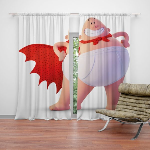 Captain Underpants Dream works Movie Curtain