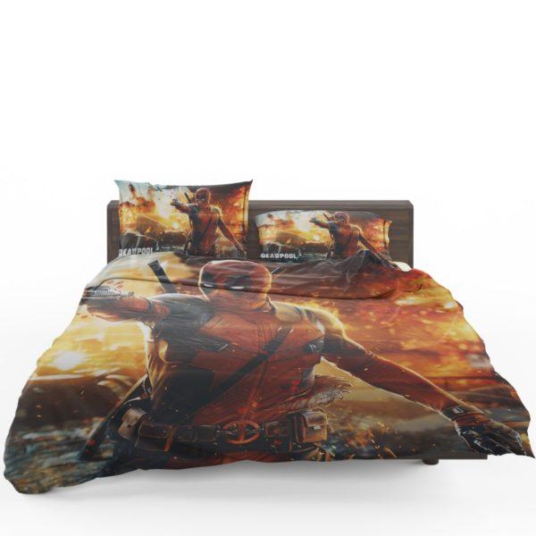 Deadpool Artwork Super Hero Bedding Set