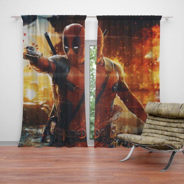 Deadpool Artwork Super Hero Curtain