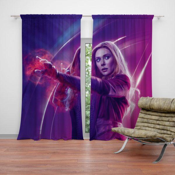 Elizabeth Olsen Wanda Maximoff Avengers Curtain