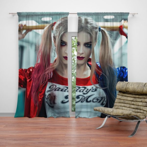 Harley Quinn Cosplay Suicide Squad Curtain