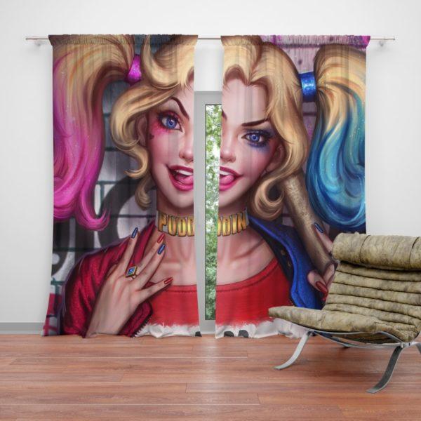 Harley Quinn DC Comics Artwork Curtain
