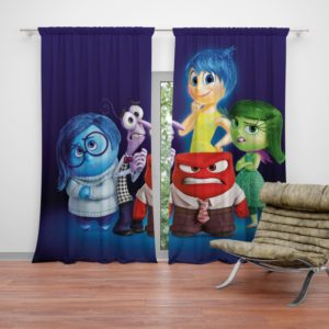 Inside Out Pixar Animation Movie Curtain