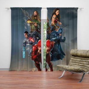 Justice League Movie Teen Bedroom Curtain