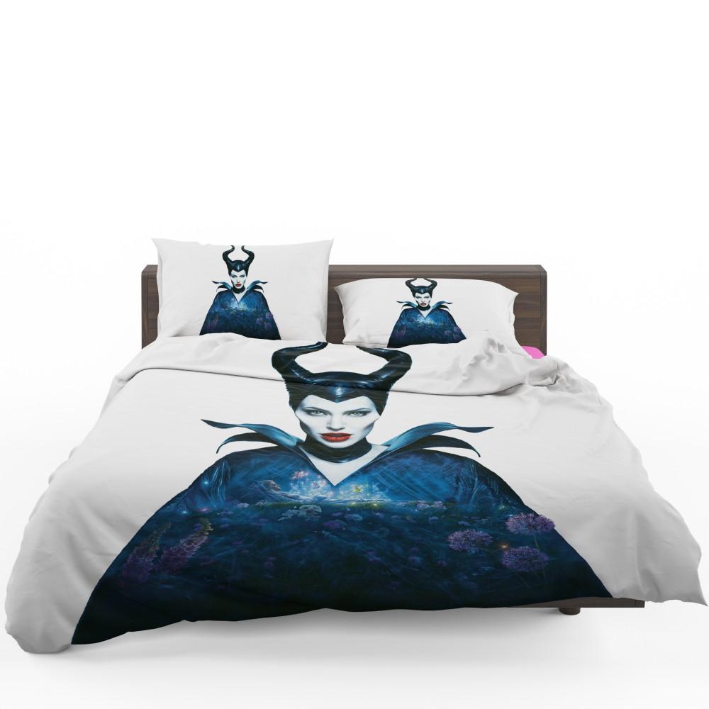 Maleficent Movie Angelina Jolie Horns Fairy Tale Bedding
