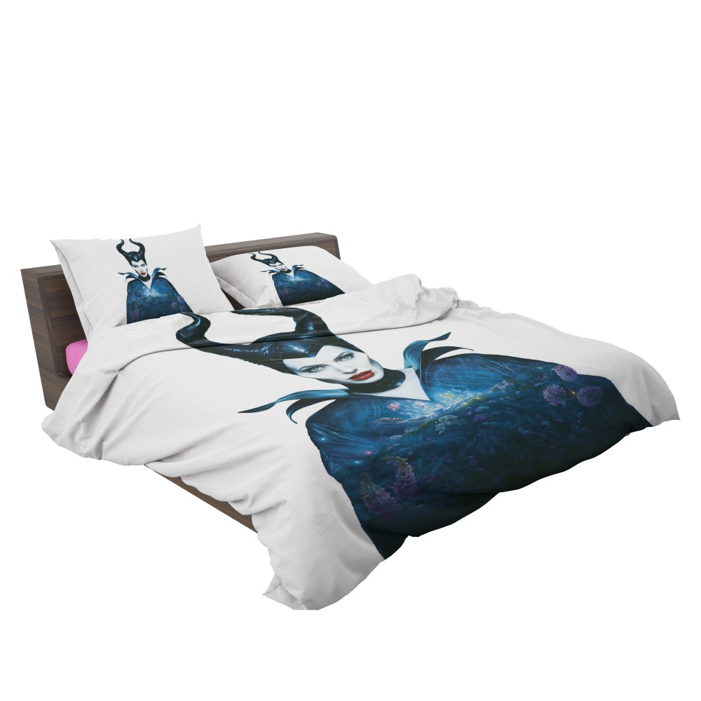 Maleficent Movie Angelina Jolie Horns Fairy Tale Bedding Set | EBeddingSets