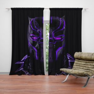Marvel Black Panther Movie Bedroom Curtain