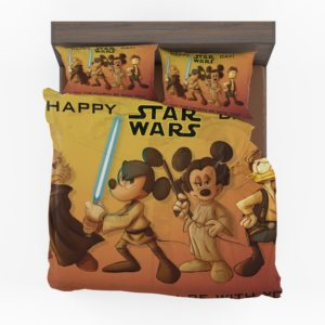 Mickey Mouse Minnie Mouse Disney Star Wars Happy day Bedding Set