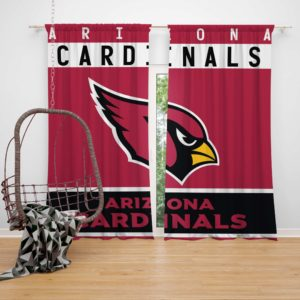 NFL Arizona Cardinals Bedroom Curtain